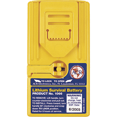ACR 1066 Lithium Battery Pack, Survival VHF