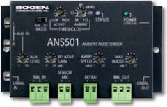 BOGEN ANS501 AMBIENT NOISE SENSOR W/ POWER SUPPLY AND MICROPHONE