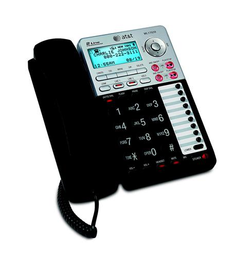 AT&T ML17939 2-LINE SPEAKERPHONE WITH CALLER ID AND DIGITAL ANSWERING SYSTEM