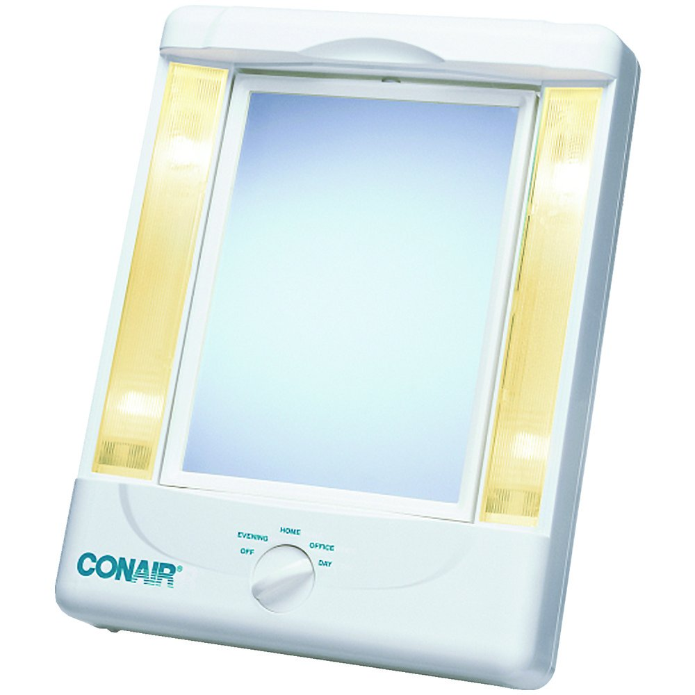 Conair Tm8lx3n 2-Sided Makeup Mirror With 4 Light