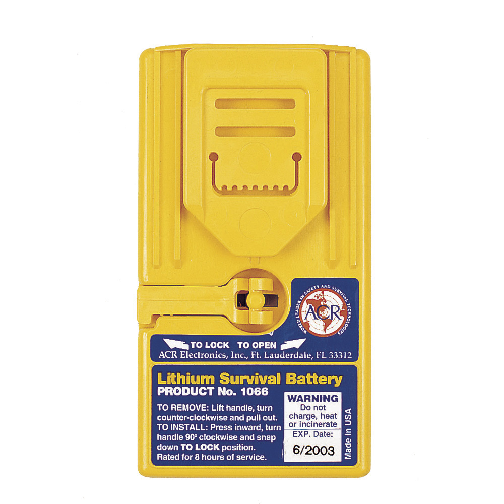 ACR 1066 Lithium Survival Battery for 2626, 2727 & 2726A GMDSS Radios