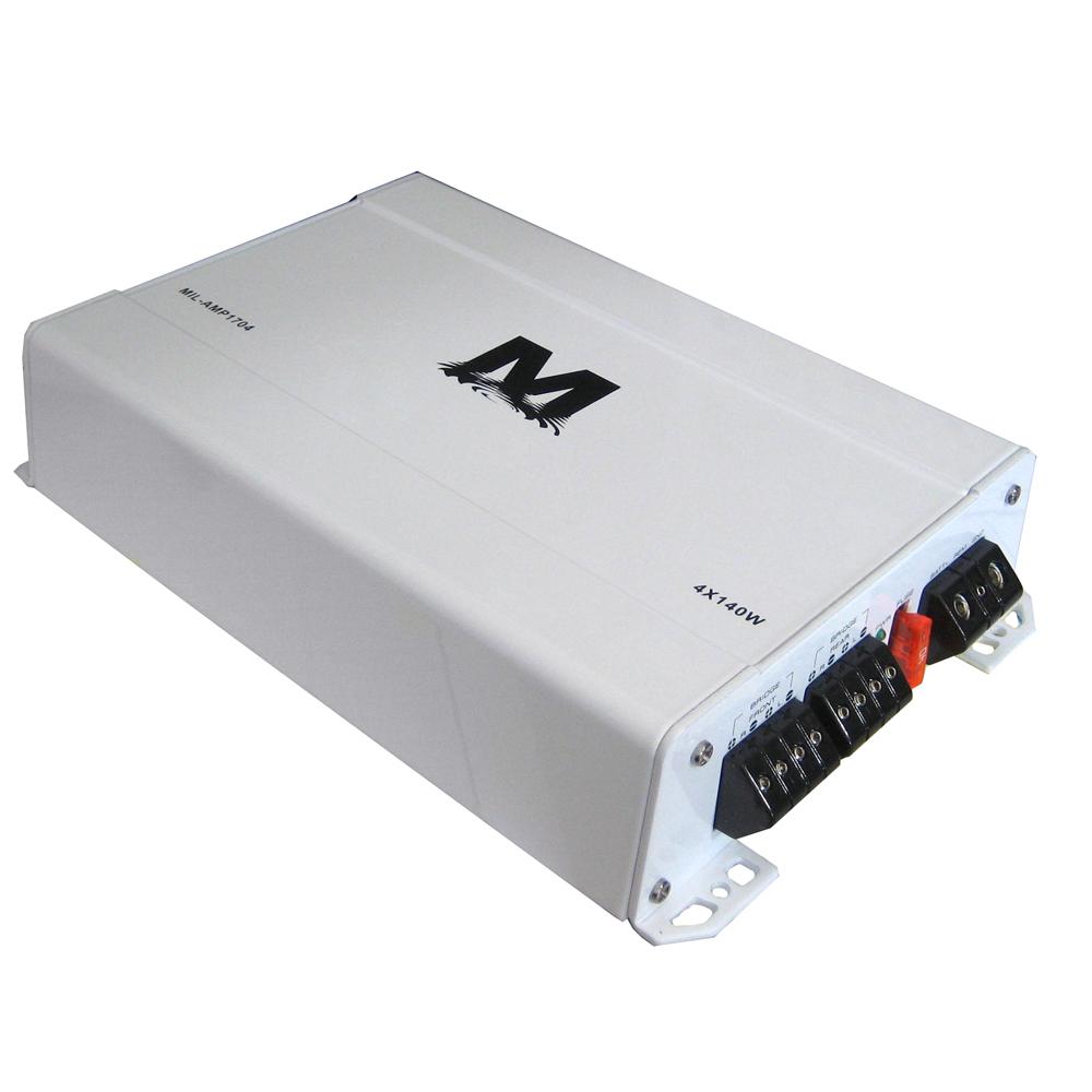 MILENNIA AMP1704 4X70 WATTS CLASS D FOUR CHANNEL AMPLIFIER