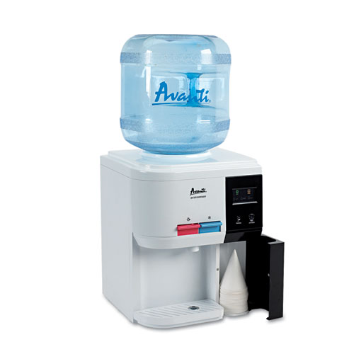AVANTI WD31EC Tabletop Thermoelectric Water Cooler, 13 1/4dia. x 15 3/4h, White