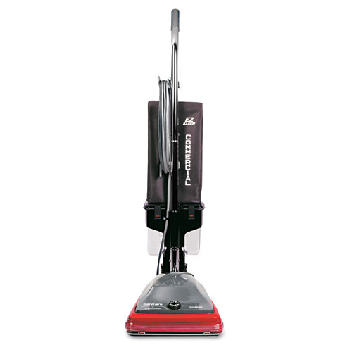 EUREKA SC689A ELECTROLUX Sanitaire Commercial Lightweight Bagless Upright Vacuum, 14 lbs, Gray/Red