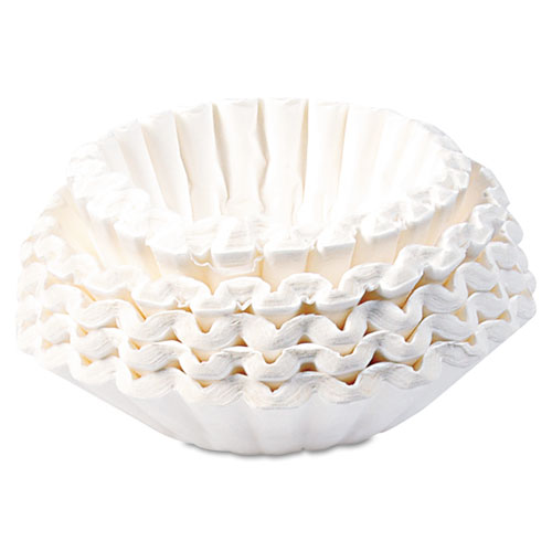 BUNN-O-MATIC BCF-250 Flat Bottom Coffee Filters, 12-Cup Size, 250 Filters/Pack
