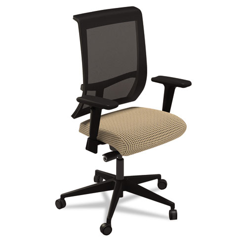 Mayline C1bb2elt Commute Mesh Back Task Chair, Expo Latte/black at Sears.com