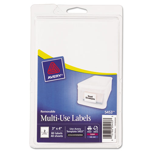 Custom Card Template print avery labels : Avery 05453 Print Or Write Removable Multi-Use
