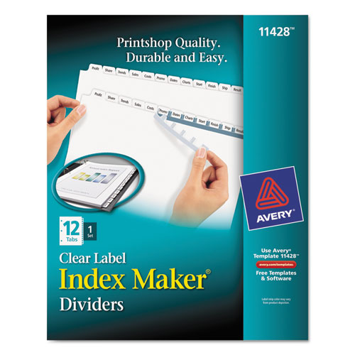 Avery 11428 Index Maker Clear Label Dividers