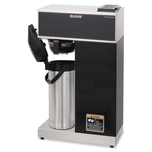BUNN-O-MATIC 33200.0014 Airpot Coffee Brewer, Brews 3.8 Gal.,Stainless Steel w/Black Accents