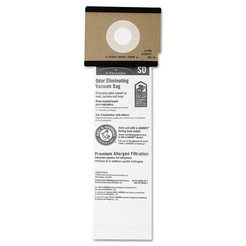 EUREKA 63262-10 ELECTROLUX Sanitaire Series Upright Vacuum Cleaner Replacement Bags, 5/Pack