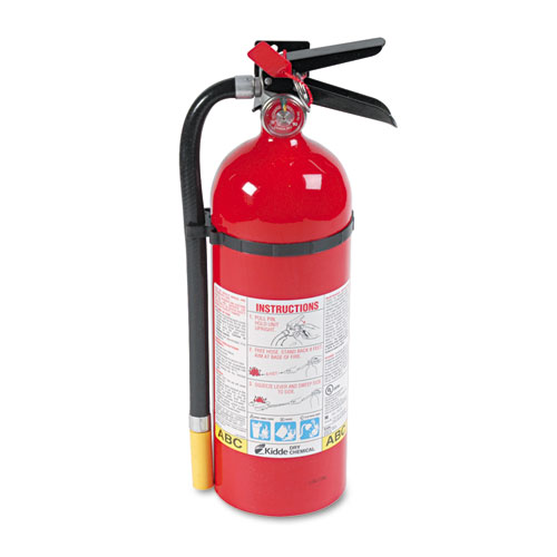 Kidde 466112 Proline Pro 5 Mp Fire Extinguisher, 3-A,40-B:C, 195Psi, 16.07H X 4.5Dia, 5Lb