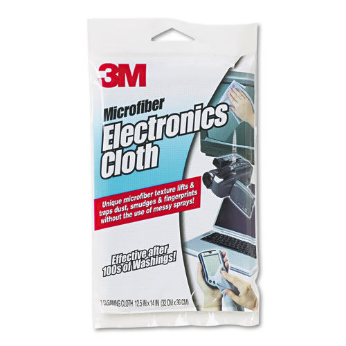 3m 9027 Microfiber Electronics Cleaning Cloth 12 X 14 White
