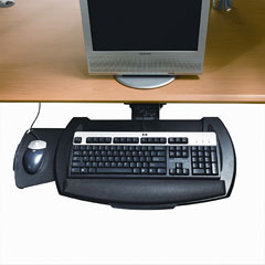 HON 840000 Articulating Keyboard Platform with Mouse Tray, 21 x 10-1/2, Black